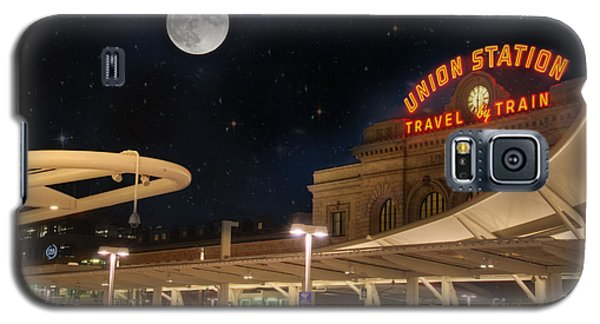 Union Station Denver Under A Full Moon Galaxy S5 Case