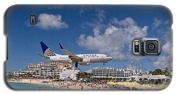 United Low Approach St Maarten Galaxy S5 Case by David Gleeson
