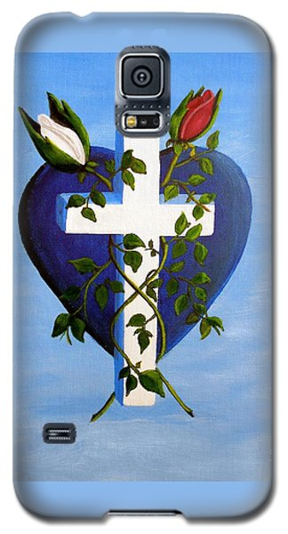 Galaxy S5 Case featuring the painting Unity by Sheri Keith