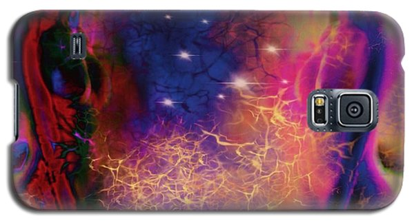 Galaxy S5 Case featuring the digital art Universal Spiritual Energy by Diana Riukas