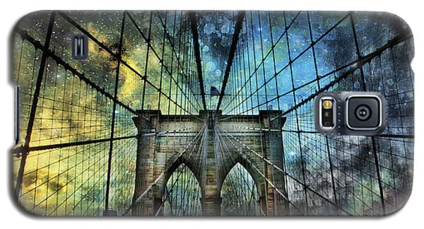 Universe And The Brooklyn Bridge Galaxy S5 Case