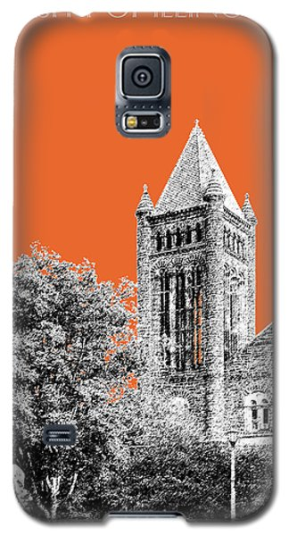 University Of Illinois 2 - Altgeld Hall - Coral Galaxy S5 Case by DB Artist