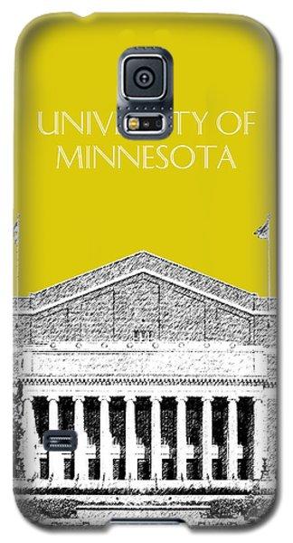 University Of Minnesota 2 - Northrop Auditorium - Mustard Yellow Galaxy S5 Case by DB Artist