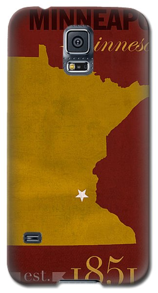 University Of Minnesota Golden Gophers Minneapolis College Town State Map Poster Series No 066 Galaxy S5 Case