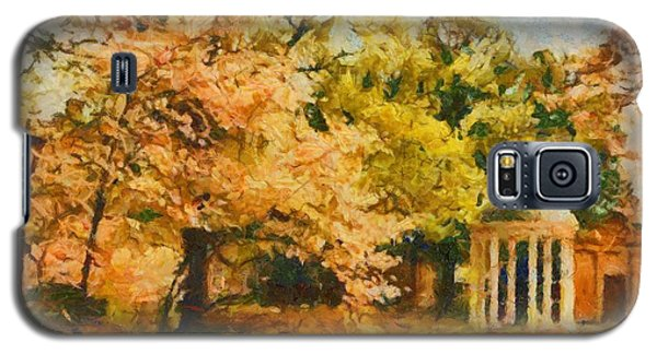 Galaxy S5 Case featuring the painting University Of North Carolina  by Elizabeth Coats