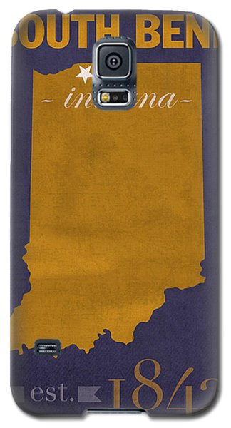University Of Notre Dame Fighting Irish South Bend College Town State Map Poster Series No 081 Galaxy S5 Case by Design Turnpike