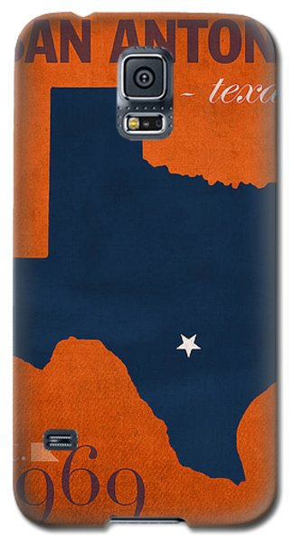 Roadrunner Galaxy S5 Case - University Of Texas At San Antonio Roadrunners College Town State Map Poster Series No 111 by Design Turnpike