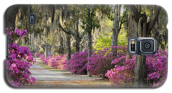 Galaxy S5 Case featuring the photograph Unpaved Road With Azaleas And Oaks by Bradford Martin
