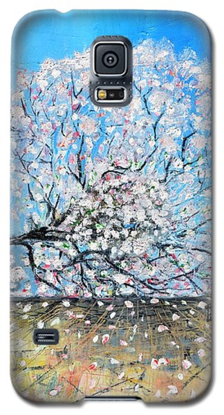 Galaxy S5 Case featuring the painting Unstable Position by Evelina Popilian