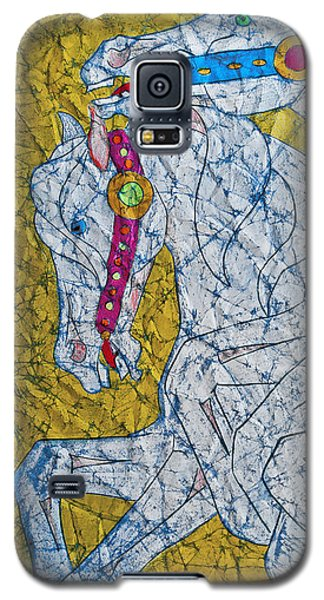 Galaxy S5 Case featuring the painting Untethered by Jani Freimann