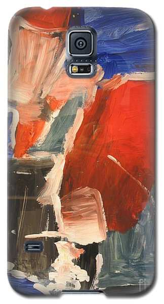 Galaxy S5 Case featuring the painting Untitled Composition I by Fereshteh Stoecklein