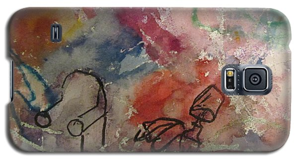 Galaxy S5 Case featuring the painting Untitled Watercolor 1998 by Shea Holliman
