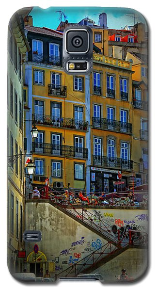 Up The Stairs - Lisbon Galaxy S5 Case by Mary Machare
