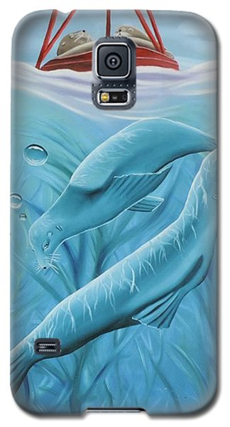 Galaxy S5 Case featuring the painting Uphoria by Dianna Lewis
