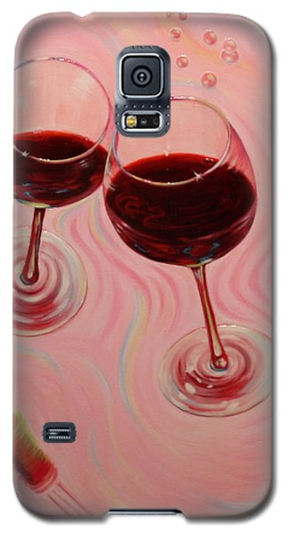 Galaxy S5 Case featuring the painting Uplifting Spirits II by Sandi Whetzel