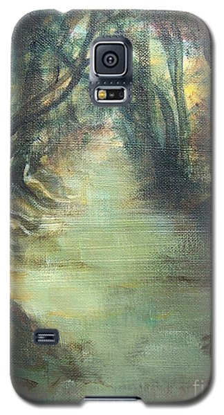 Galaxy S5 Case featuring the painting Upstream by Mary Lynne Powers