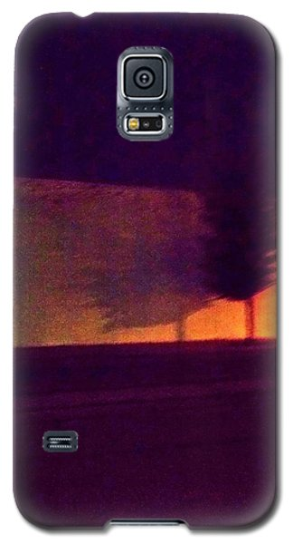 Galaxy S5 Case featuring the photograph Urban Tree At Night by Carolyn Repka