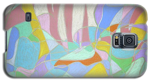 Galaxy S5 Case featuring the painting Urban Utopia by Esther Newman-Cohen