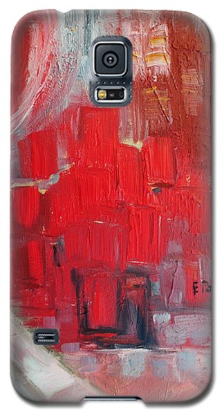 Galaxy S5 Case featuring the painting Urban View by Evelina Popilian