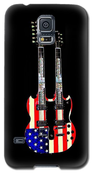 U S Flag Gibson Guitar Poster Galaxy S5 Case