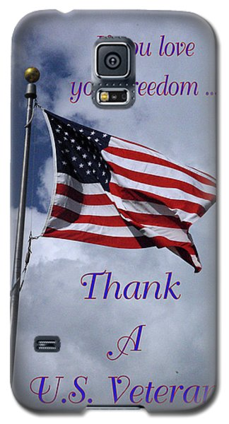 Us Flag Thank A Vet Galaxy S5 Case by Robyn Stacey