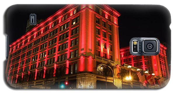 Galaxy S5 Case featuring the photograph Us Grant Hotel In Red by Nathan Rupert