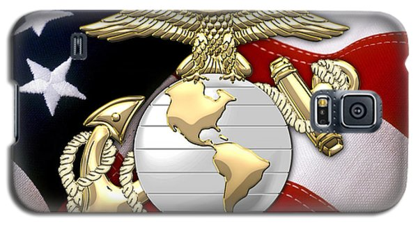 U. S. Marine Corps - U S M C Eagle Globe And Anchor Over American Flag. Galaxy S5 Case