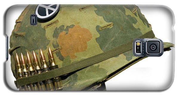 Us Vietnam War Helmet - Peace Button Galaxy S5 Case
