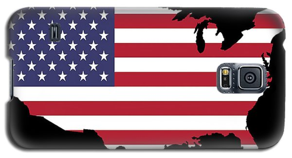 Usa And Flag Galaxy S5 Case