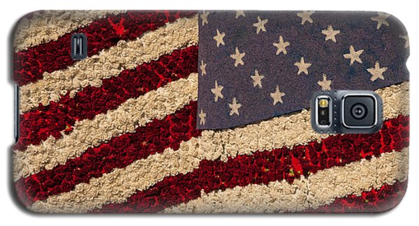 Usa Flag Of Flowers Galaxy S5 Case