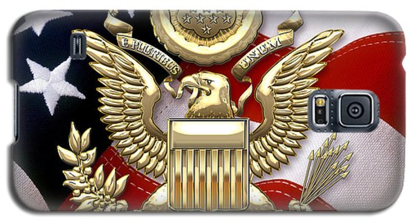 U. S. A. Great Seal In Gold Over American Flag  Galaxy S5 Case