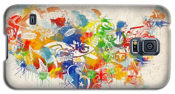Usa Nfl Map Collage 12 Galaxy S5 Case
