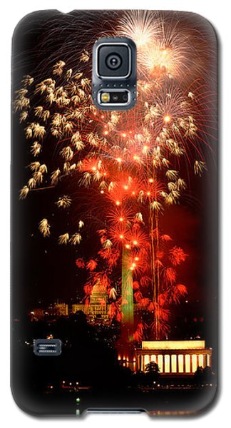 Usa, Washington Dc, Fireworks Galaxy S5 Case