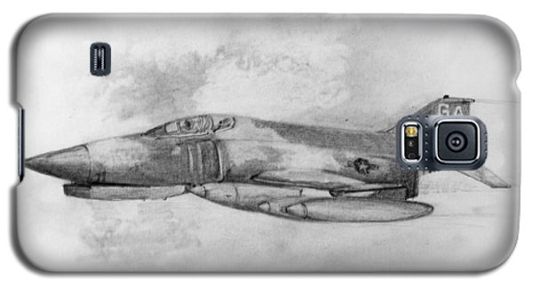 Galaxy S5 Case featuring the drawing Usaf F-4 Phantom by Jim Hubbard