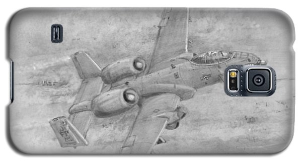 Galaxy S5 Case featuring the drawing Usaf Fairchild-republic  A-10 Warthog by Jim Hubbard