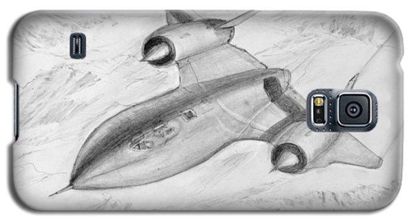Galaxy S5 Case featuring the drawing Usaf Lockheed Sr-71 Blackbird by Jim Hubbard