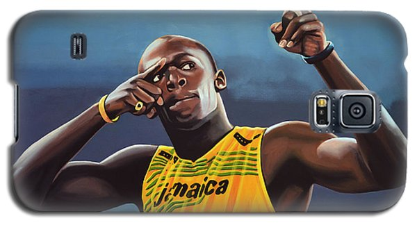 Usain Bolt Painting Galaxy S5 Case by Paul Meijering