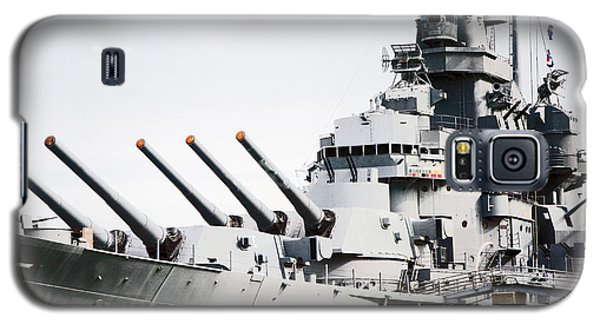 Galaxy S5 Case featuring the photograph Uss Alabama by Susan  McMenamin
