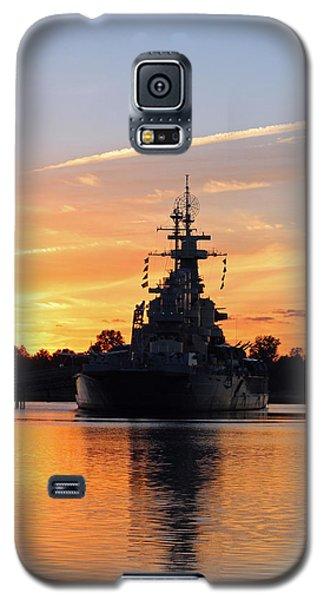 Galaxy S5 Case featuring the photograph Uss Battleship by Cynthia Guinn