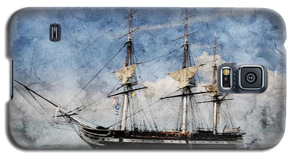Uss Constitution On Canvas - Featured In 'manufactured Objects' Group Galaxy S5 Case