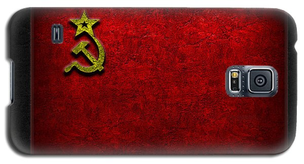 Ussr Flag Stone Texture Galaxy S5 Case