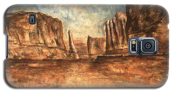 Utah Red Rocks - Landscape Art Painting Galaxy S5 Case