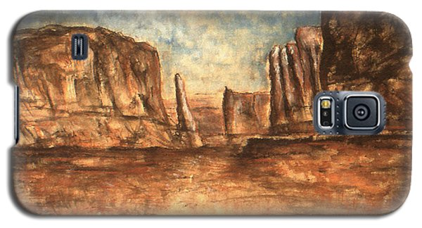 Utah Red Rocks - Landscape Art Painting Galaxy S5 Case