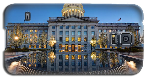 Utah State Capitol In Reflecting Fountain At Dusk Galaxy S5 Case