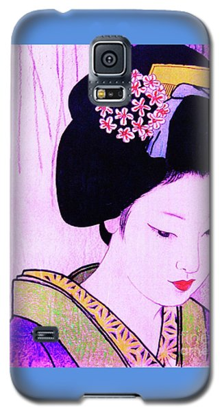 Galaxy S5 Case featuring the painting Utsukushii Josei Ichi by Roberto Prusso