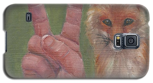 Galaxy S5 Case featuring the painting V Is For Vixen by Jessmyne Stephenson