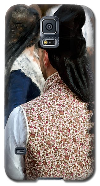 Galaxy S5 Case featuring the photograph Valencian Couple In Traditional Dresses. by Juan Carlos Ferro Duque