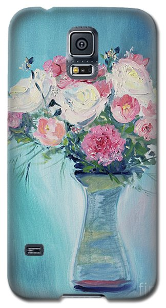 Galaxy S5 Case featuring the painting Valentine Bouquet by Asha Carolyn Young