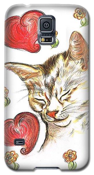 Valentine Cat Galaxy S5 Case by Teresa White