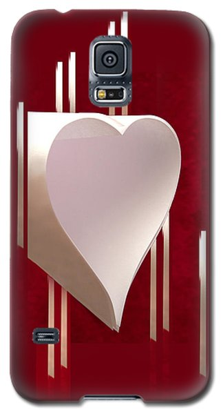 Valentine Paper Heart Galaxy S5 Case by Gary Eason